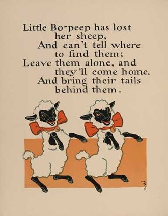 Little Bo-Peep - William Wallace Denslow's illustrations for the rhyme, 1902