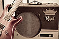 Little King custom-built tube amp from a local shop, labeled Regal, Silvertone Tape Recorder.jpg