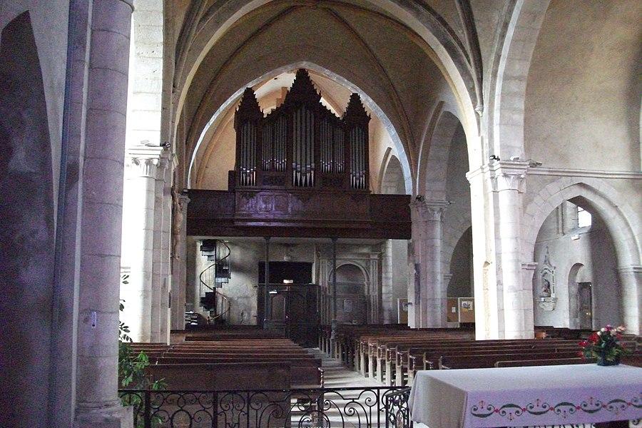 Liverdun (Meurthe-et-Moselle, France), église saint Pierre, orgue Claude-Ignace Callinet de 1847 intact, restauré en 1999 par Laurent Plet.