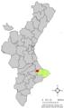Localització de Vall de Gallinera respecte del País Valencià.png