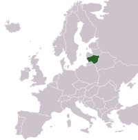 Lithuania On Europe Map.Lithuania Wikibooks Open Books For An Open World