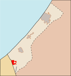 Location of Rafah in the Gaza Strip