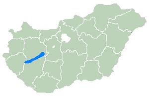 Balaton elhelyezkedése
