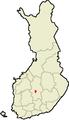 Location of Petäjävesi in Finland.png