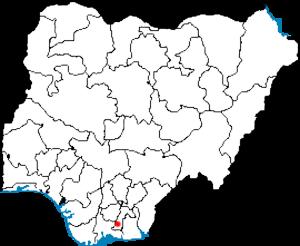 Aba River (Nigeria) - Image: Locator Map Aba Nigeria