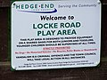 Locke Road play area - sign - geograph.org.uk - 1429031.jpg