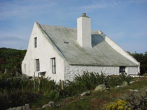 Skokholm - Lockley House, the UK's first bird observatory, rebuilt and lived in by naturalist Ronald Lockley