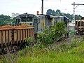 Locomotivas de comboio parado sentido Guaianã no pátio da Estação Ferroviária de Itu - Variante Boa Vista-Guaianã km 202 - panoramio.jpg