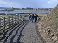 Looking down steps at Lindisfarne Castle - geograph.org.uk - 741660.jpg