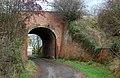 Looking north at a railway bridge, Lower Westfields, Harbury - geograph.org.uk - 1569869.jpg