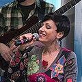Lorena Astudillo y músicos, presentación de Folcloreishon (24-04-2015) cropped.jpg