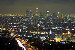 Skyline of City of Los Angeles