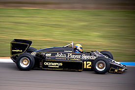 1985 Ayrton Senna Lotus 97T at the Renault World Series, Donington Park 2007