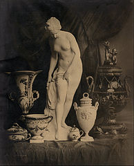 Louis-Rémy Robert (French - (Still Life with Statuette and Vases) - Google Art Project.jpg