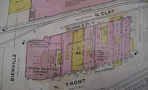 Sanborn Maps - Early 20th century Sanborn map showing a (since demolished) block of New Orleans.