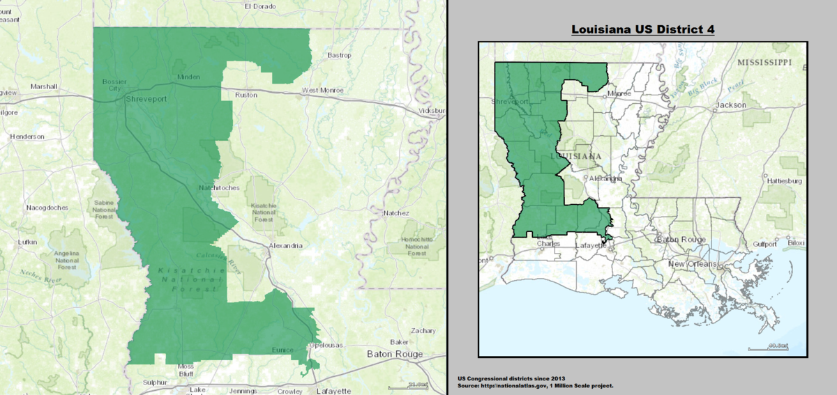 Louisianas Th Congressional District Wikipedia - Louisiana us representative map