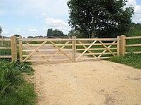 Lovely gates near Hollinshead Swing Bridge - geograph.org.uk - 844479.jpg