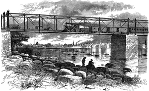Lower Trenton Bridge - The railroad bridge in 1875