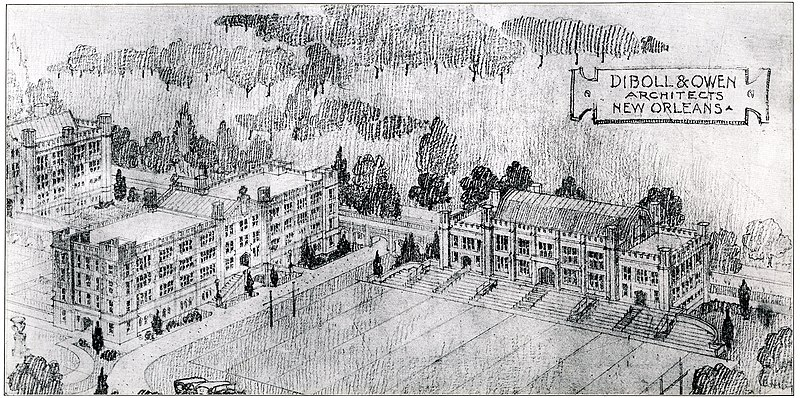 File Loyola University New Orleans Campus Sketch 2 Early 20th C Jpg