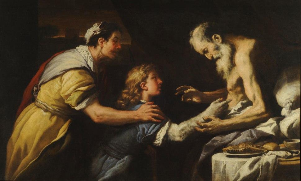 Luca Giordano - Presentacion de Jacob a Isaac