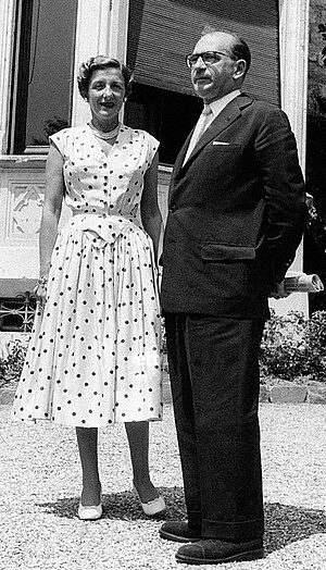 Edgar Faure - Lucie and Edgar Faure in 1955