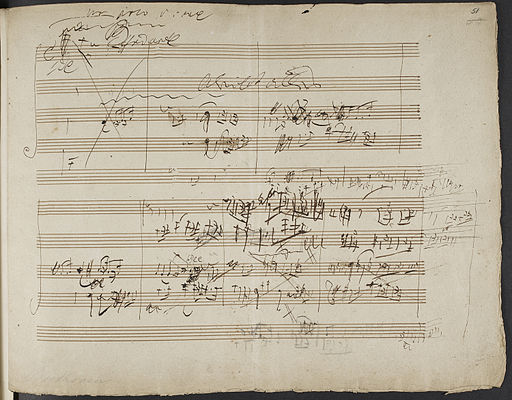 Ludwig van Beethoven - Sketches for the String Quartet Op. 131. (BL Add MS 38070 f. 51r)
