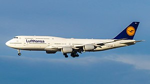 Boeing 747-8 - Boeing 747-8I of Lufthansa, the type's largest operator, 2015
