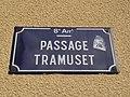 Lyon 8e - Passage Tramuset - Plaque (mai 2019).jpg