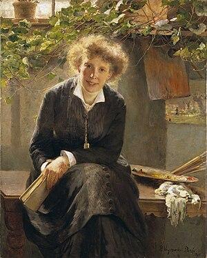 Bertha Wegmann - Portrait of Jeanna Bauck (1881)