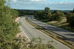 M10 motorway (Great Britain) - M10 south of St Albans in 2005