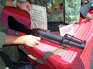 M79 grenade launcher - M79 being set up for display