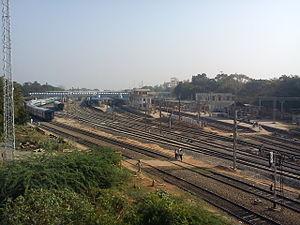 Madurai Junction railway station - Image: MADURAI JUNCTION AERIAL VIEW
