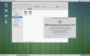 MATE desktop environment version 1.8