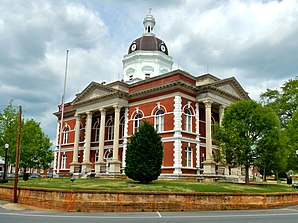 Meriwether County Courthouse in Greenville, gelistet im NRHP Nr. 73000630[1]