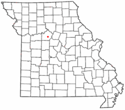 Location of Napton, Missouri