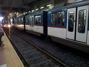 Ayala MRT station - Image: MRT3Train Ayala 1