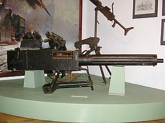 Vickers .50 machine gun - A Vickers .50 machine gun, Polish Army Museum, Warsaw (2006)