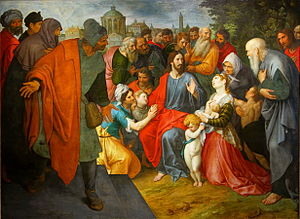 Ambrosius Francken I - Let the children come to me