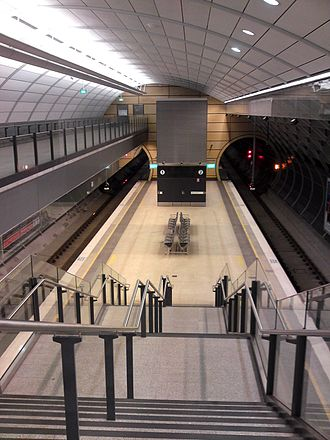 Macquarie University railway station - Westbound view