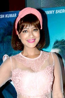 Madalsa Sharma grace the first look launch of Dil Salaa Sanki (09) (cropped).jpg