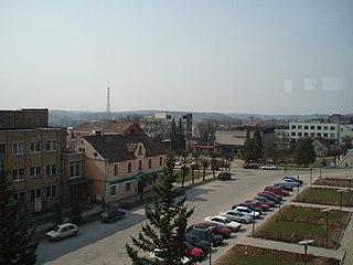 Madona Town in Madona Municipality, Latvia