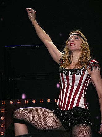Cultural impact of Madonna - Madonna in the Re-Invention World Tour.