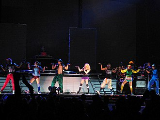"""Sticky & Sweet Tour - The performance of """"Music"""" with the Egyptian walk"""