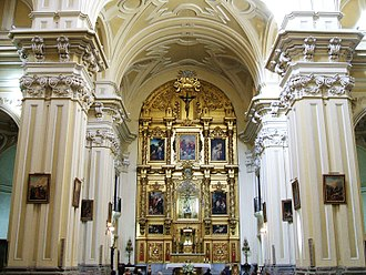 San Cayetano Church, Madrid - View of the interior.