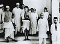 Mahatma Gandhi with Jawaharlal Nehru and Vallabhbhai Patel.jpg