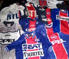 Camisetas de distintas temporadas del Paris Saint-Germain Football Club 39f3e5fb1e6d6