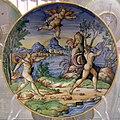 Maiolica di urbino, apollo e dafne, bottega fontana, 1550-1574.jpg