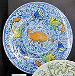 Maiolica di venezia, piatto, 1550-1575 ca., collez. privata.JPG