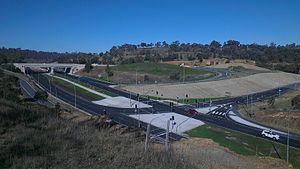 Horse Park Drive - Interchange between Federal Highway, Horse Park Drive and Majura Parkway