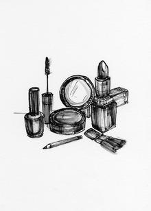 Disegno di cosmetici